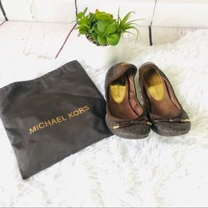 Michael Kors Black City Logoprint Ballerina Flats